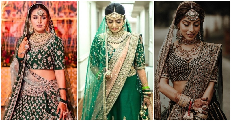 Brides who adorned some gorgeous green lehengas that took our breath away!