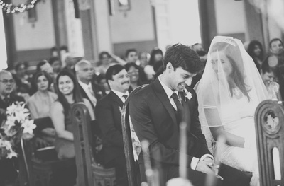 Wedding ceremony at the St. Anne's church