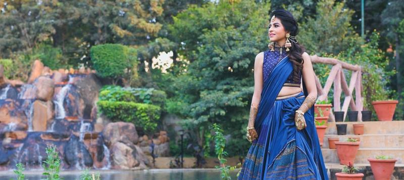 Sidhant & Sanah Delhi : This gorgeous Sabyasachi Bride just got hitched at Lata Greens, Delhi