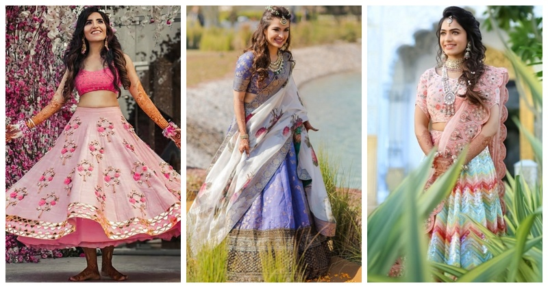 10 Real brides who slayed the game with their offbeat mehendi lehengas!