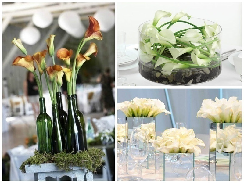 STATEMENT WEDDING CENTREPIECES WITHLILY / CALLA LILY