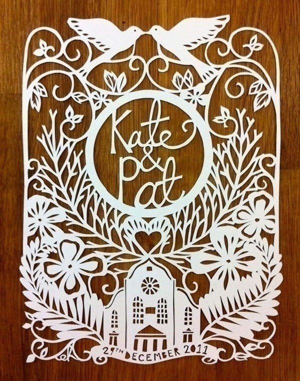 Personalized Laser Cut Wedding Invitations