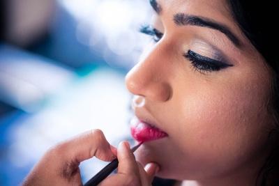 Bridal makeup by Sanam Jain.