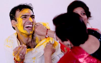 Traditional Haldi ceremony