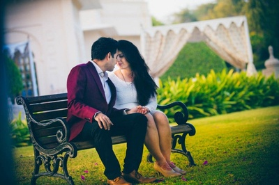 Romantic pre wedding photo shoot at Udaipur, wedding venue of the couple