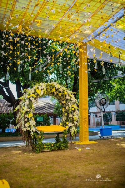 Beautiful haldi decor ideas