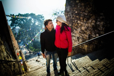 Pre wedding shoot ideas in sunny winters at Nepal