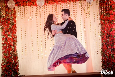 The bridal sangeet lehnga stole our hearts away