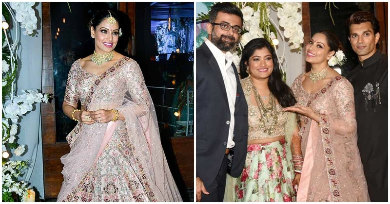Bipasha Basu's look at her sister's wedding reception is major sister-of-the-bride goals!
