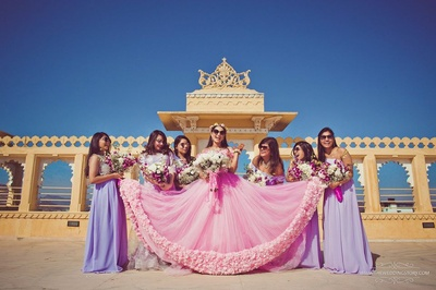 Pre wedding photography of the bride and her bridesmaid