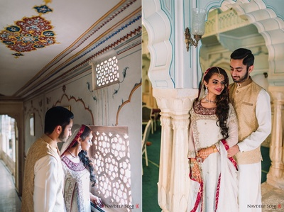 Chomu Palace plays host to the bride and groom's quintessential wedding