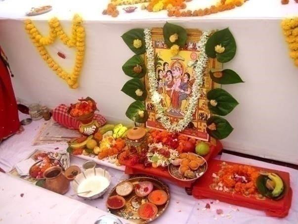Ganpati Sthapna and Griha Shanti Ceremony: