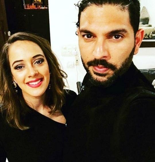 Yuvraj Singh and Hazel-