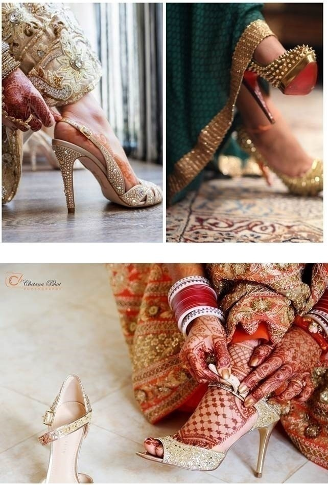WEDDING PHOTO IDEA: FOOTWEAR. (They never get to be seen, otherwise!)
