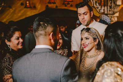 The gorgeous newly weds headed towards the vidaai