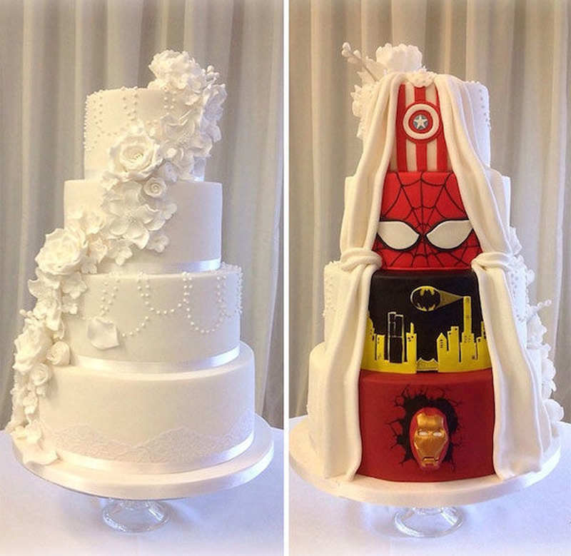 Creative Half and Half Wedding Cake Ideas that You Must Take
