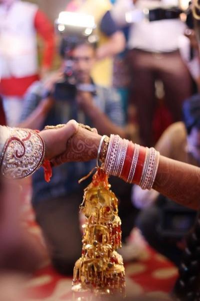 Red chooda set with Gold kaliras