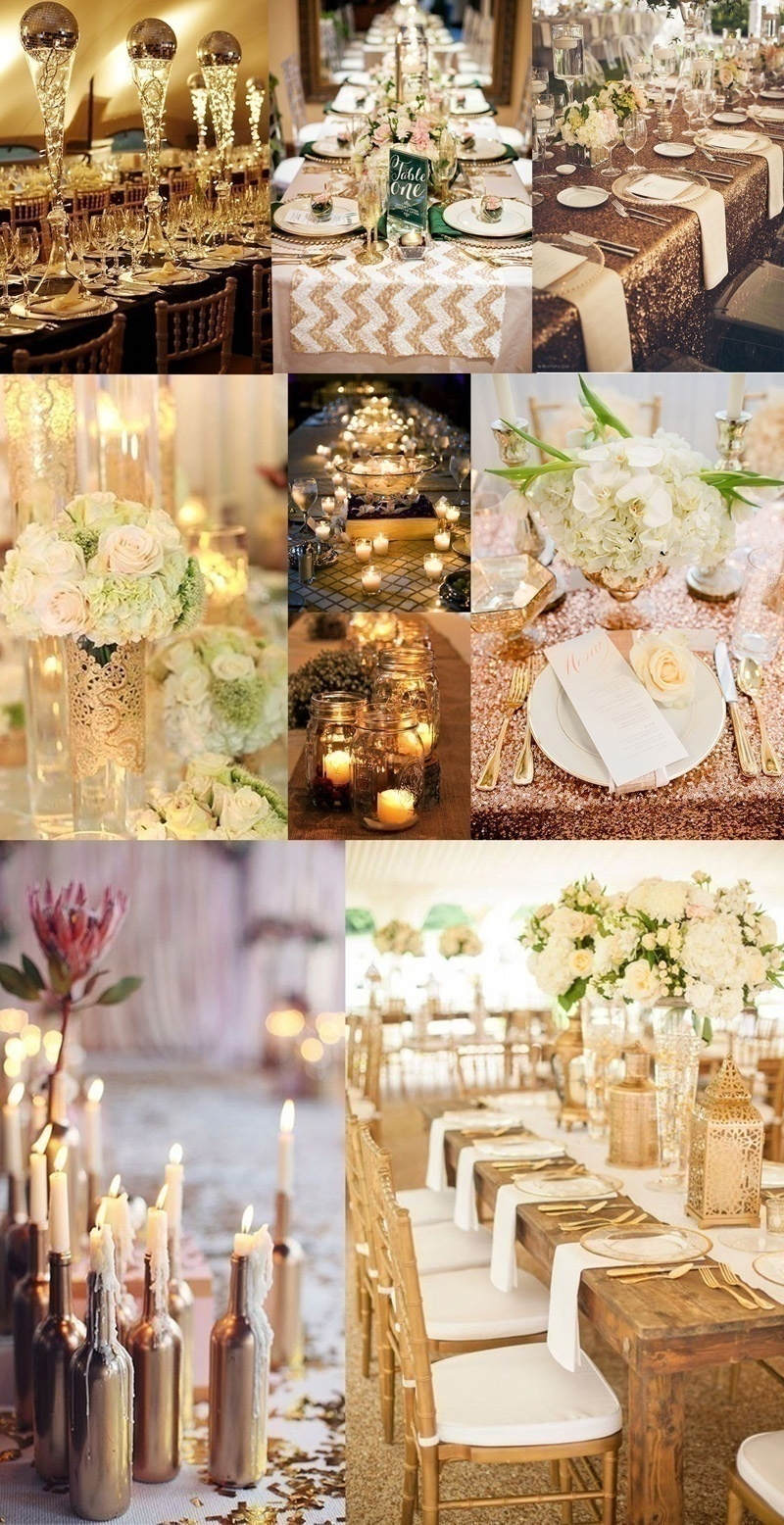 Gold, White and Shimmer