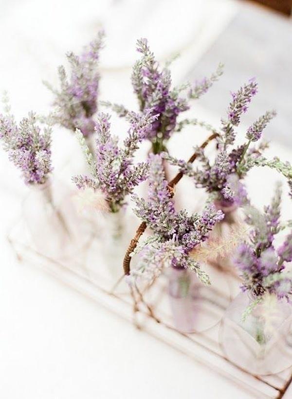 Lavender Wedding Centrepieces