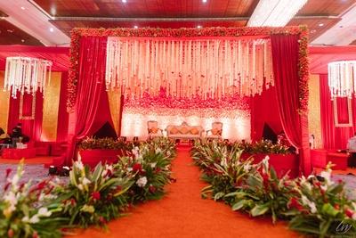 The beautiful mandap decoration