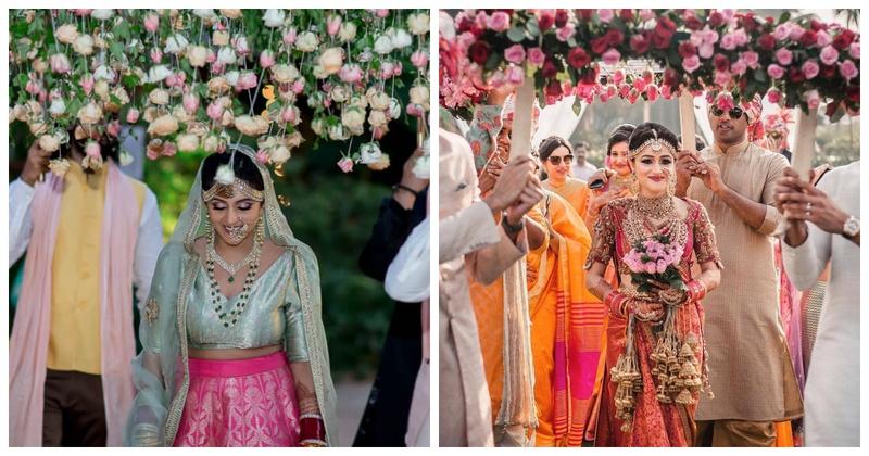 10 Phoolon Ki Chaadar For Your Bridal Entry That Are Trending This Wedding Season Real Wedding Stories Wedding Blog