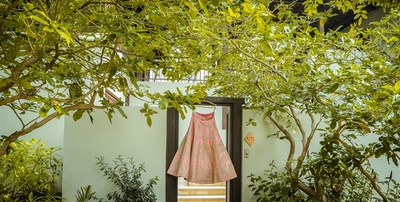 Pretty pink lehenga for the wedding