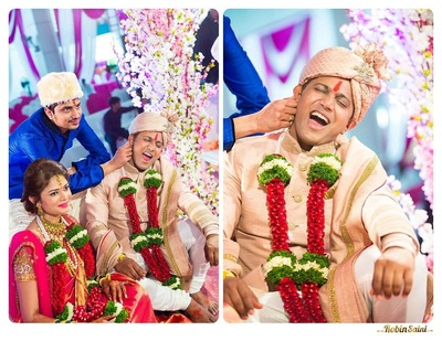 Kaan khichai ceremony performed by the brother of the bride