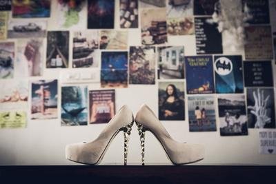 Wedding shoes photography ideas.