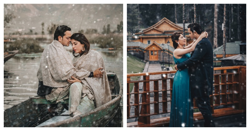 This couple decided to do their pre-wedding shoot in Kashmir and it's purely magical.