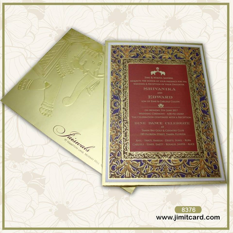 Fancy myanmar wedding invitation card adornment invitations and jimit card wedding invitation card in dadar west mumbai weddingz stopboris Choice Image