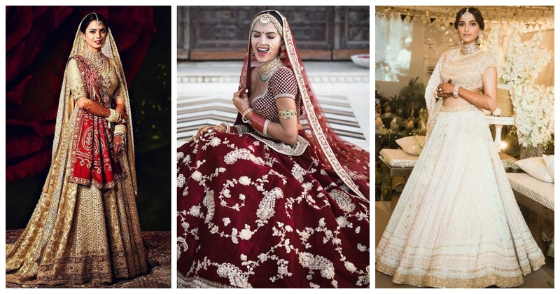 Top 15 Wedding Lehengas worn by Real Brides in 2018! #Wz2018Rewind