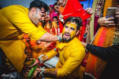 Super fun haldi ceremony of the groom