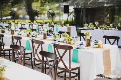 Dinning area decor for the beautiful wedding ceremony