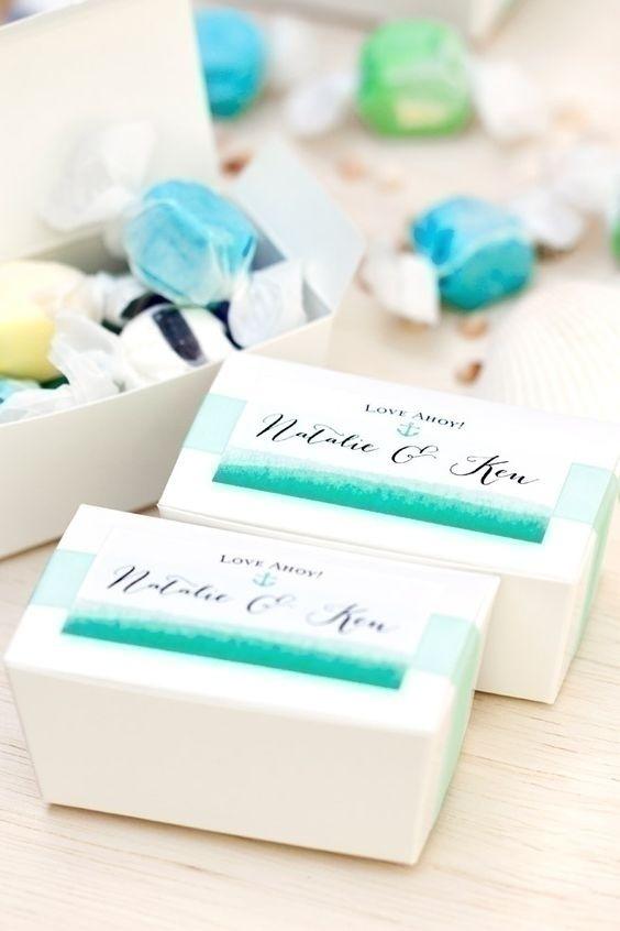 Watercolor Wedding Favors