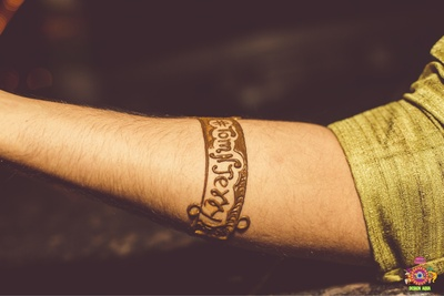 Groom's indian mehendi design for the wedding
