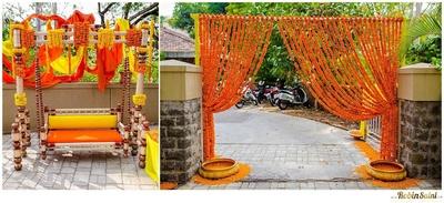 Orange and yellow marigold decor ideas