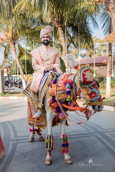 The groom is all set for his baraat