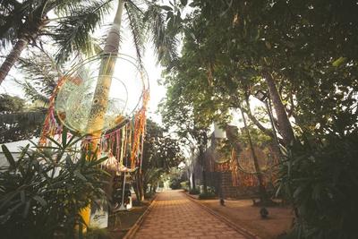 Beautiful boho decor at For Tiracol, Goa