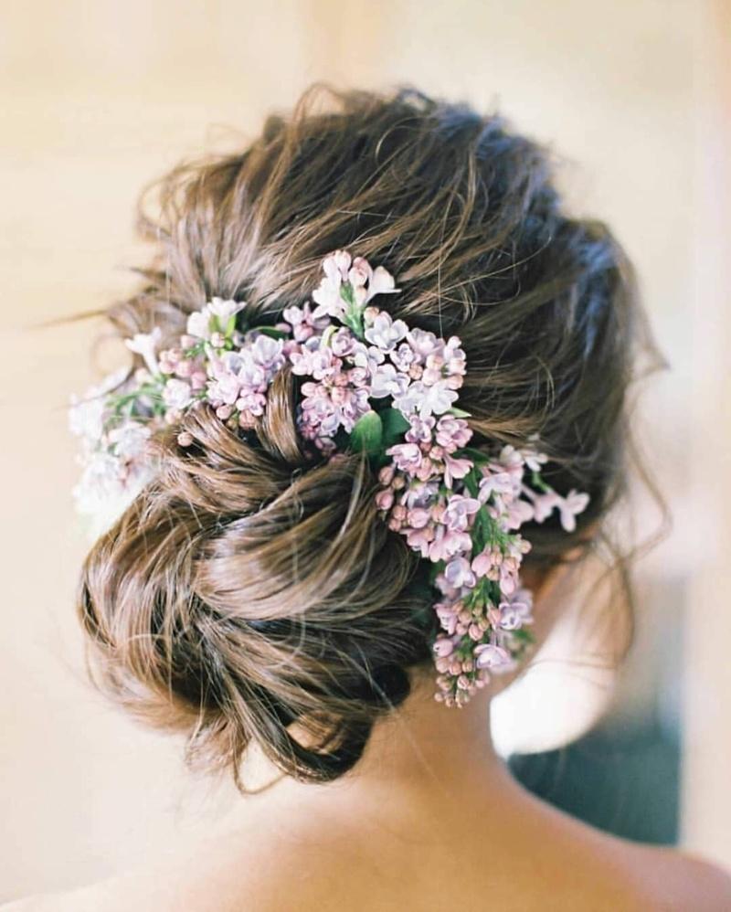 Messy Flower Bun hairstyle