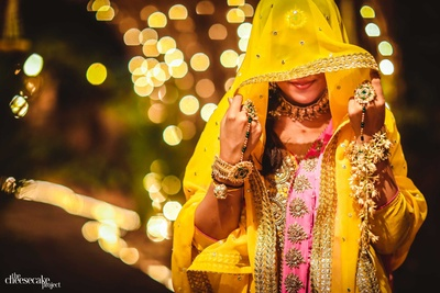 Beautiful bride Kainaat ready for her Haldi ceremony!