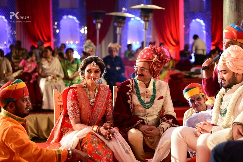 11. The bride's parents experiencing some mixed emotions during the Kanyadaan
