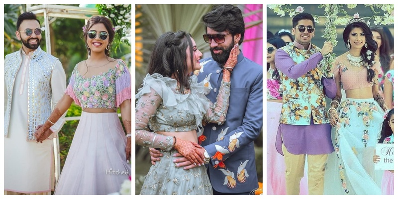10 Ways to coordinate your mehndi outfits with your partner!
