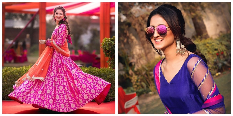 Karishma Yadav- the blogger from Pink Trunk is getting married and I am swooning over her pre-wedding outfits!