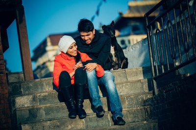 Candid pre-wedding shoot in winters