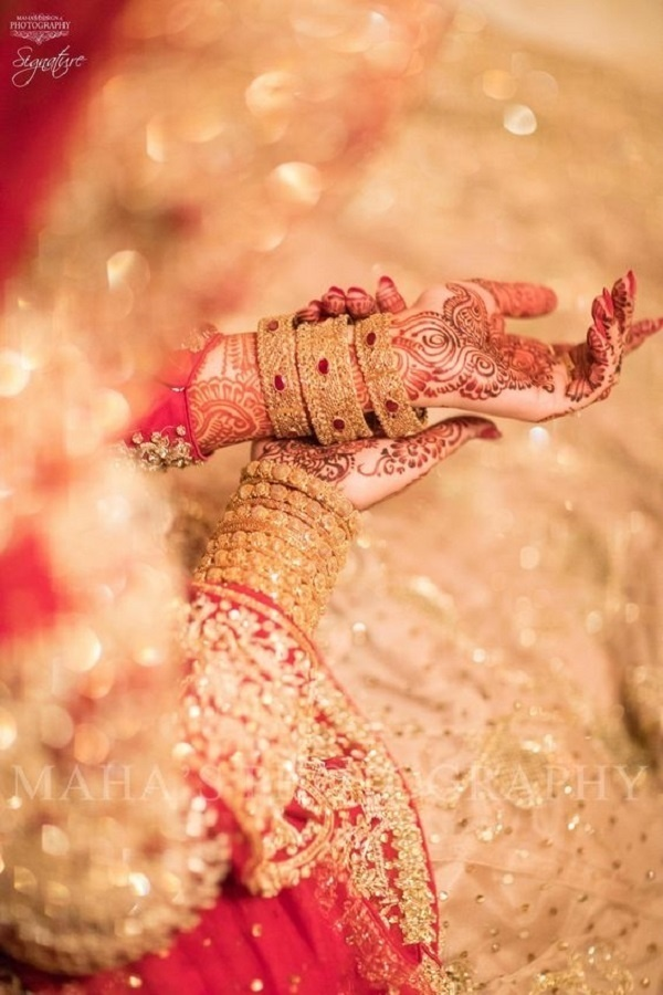 16. The one with the mehndi in focus: