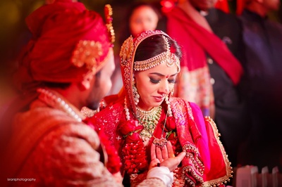 candid capture during the wedding ceremonies