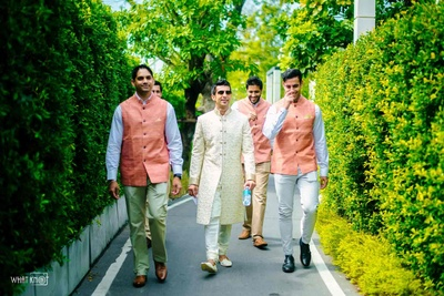 The boy squad entering the wedding venue in style!