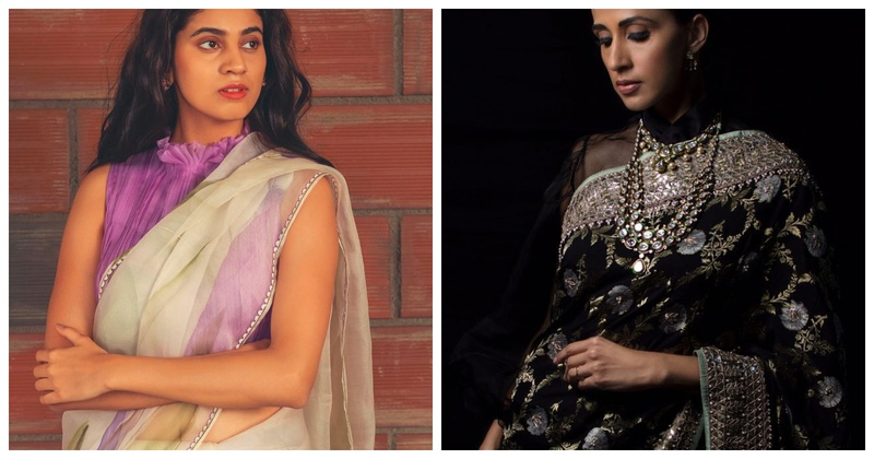 8 Gorgeous High Neck  Saree Blouses