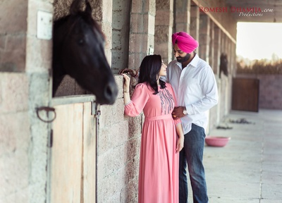 Pre wedding shoot at stable.