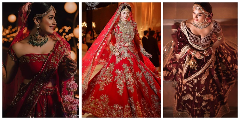 10 brides who rocked the classic Red Lehengas on their D-day in the age of Pastels!